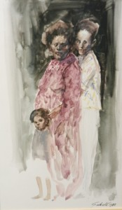 Roberto-Fabelo-1988-Guache-on-paper1-174x300